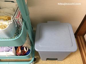 寝室のオムツ用ゴミ箱2