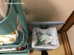 寝室のオムツ用ゴミ箱3