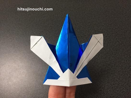 折り紙の兜4
